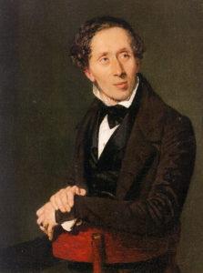 Hans Christian Andersen peinture par Christian Albrecht Jensen - 1836