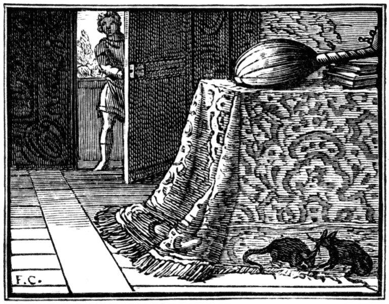 Le Rat de Ville et Le Rat des Champs de Jean de La Fontaine illustration par Chauveau