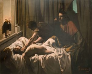 Amour de Guy de Maupassant - Peinture de Eugène Philastre - Meurtre de La Reine Galswinthe - 1846
