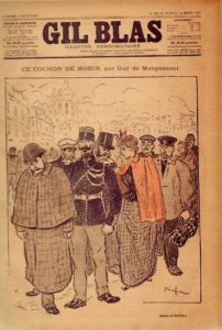 Ce Cochon de Morin de Guy de Maupassant - Une du journal Gil Blas