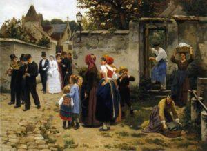 Farce Normande de Guy de Maupassant - Peinture de Guillaume Seignac - La Procession de Mariage