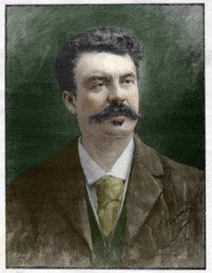 Guy de Maupassant - Portrait peint d'après photographie
