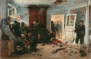 L'Attaque du Moulin de Émile Zola - Peinture de Alphonse-Marie-Adolphe de Neuville - Les Dernières Cartouches - 1873
