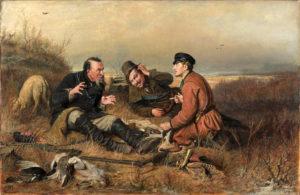 La Bécasse de Guy de Maupassant - Peinture de Vassili Perov - Chasseurs au Repos - 1871