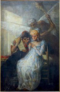 La Peur de Guy de Maupassant - Peinture de Francisco Goya - Les Vieilles - 1810