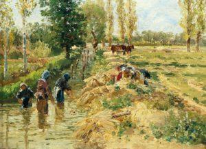 Le Chanvre de Hans Christian Andersen - Peinture de Théodore Von Hormann - 1895