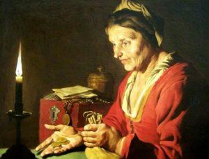 Le Diable de Guy de Maupassant - Peinture - L'Avarice