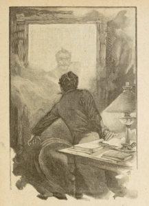 Le Horla de Guy de Maupassant - Gravure sur bois de Georges Lemoine d'après illustration par William Julian-Damazy - Apparition - 1908