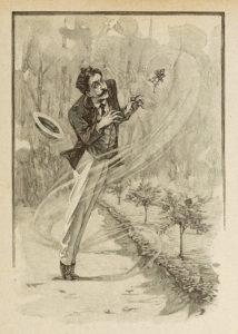 Le Horla de Guy de Maupassant - Gravure sur bois de Georges Lemoine d'après illustration par William Julian-Damazy - La Rose - 1908