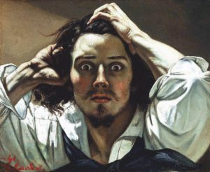 Le Horla de Guy de Maupassant - Peinture de Gustave Courbet - Autoportrait - Le Désespéré - 1843