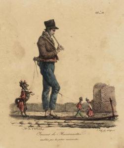 Le Montreur de Marionnettes de Hans Christian Andersen - Dessin d'un Joueur de Marionnettes