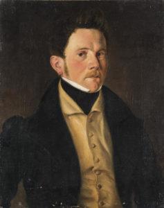 Les Amours d'un Faux-col de Hans Christian Andersen - Peinture - Portrait