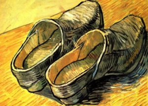 Les Sabots de Guy de Maupassant - Peinture de Vincent Van Gogh - Une Paire de Sabots en Cuir - 1888