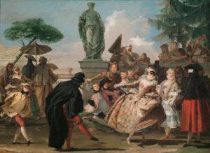 Menuet de Guy de Maupassant - Peinture de Giandomenico Tiepolo - Le Menuet - 1756
