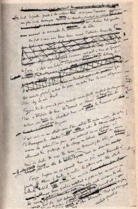 Un Coeur Simple de Gustave Flaubert - Page du Manuscrit - Photo de Roger Viollet