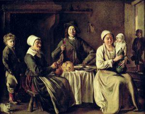 Une Famille de Guy de Maupassant - Peinture de Louis Le Nain - La Famille Heureuse - 1642