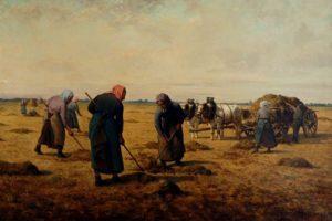 Aux Champs de Guy de Maupassant - Peinture Henri Eugene Pluchart - Travaux des Champs dans l'Artois - 1891