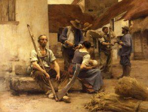 Saint-Antoine de Guy de Maupassant - Peinture de Léon Augustin Lhermitte - La Paye des Moissonneurs - 1882