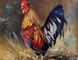 Un Coq Chanta de Guy de Maupassant - Peinture