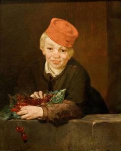 Un Fils de Guy de Maupassant - Peinture de Édouard Manet - L'Enfant aux Cerises - 1859