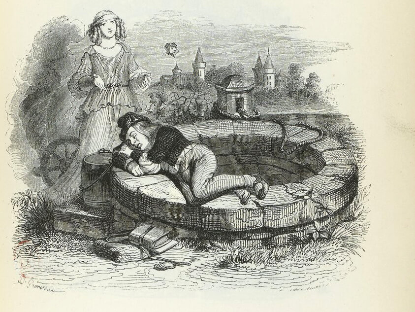 La fortune et le jeune enfant - Jean de La Fontaine La-Fortune-et-Le-Jeune-Enfant-de-Jean-de-La-Fontaine-dans-Les-Fables-Illustration-de-Grandville-1840