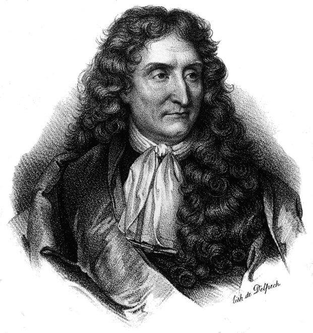 Jean de La Fontaine - Lithographie de Delpech - 1820