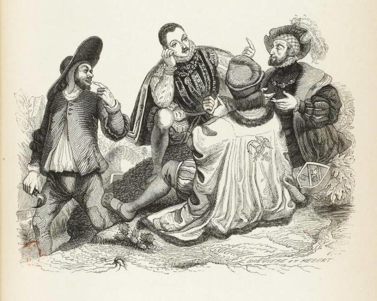 Le Marchand, Le Gentilhomme, Le Pâtre et Le Fils de Roi de Jean de La Fontaine dans Les Fables - Illustration de Grandville - 1840