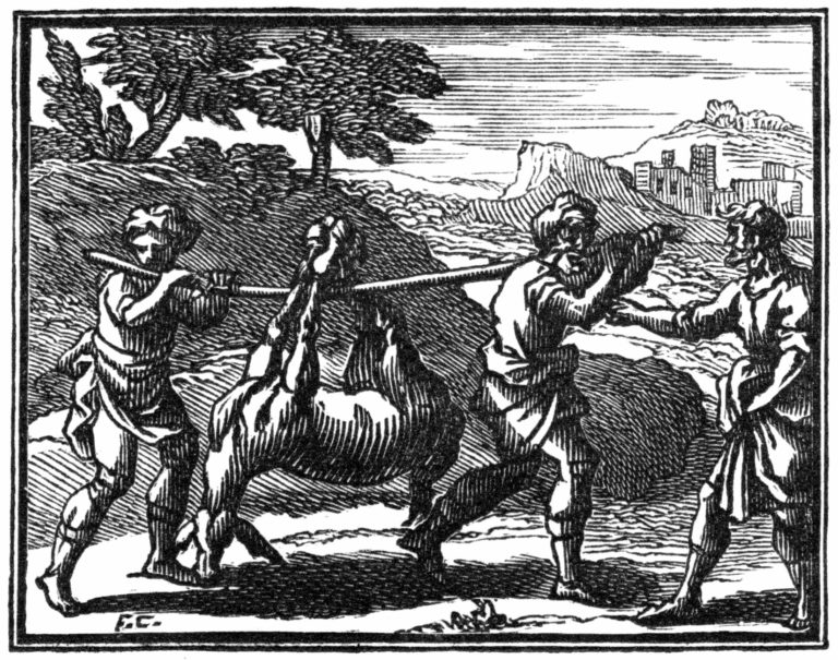 Le Meunier, Son Fils et l'Âne de Jean de La Fontaine dans Les Fables - Illustration de François Chauveau - 1688