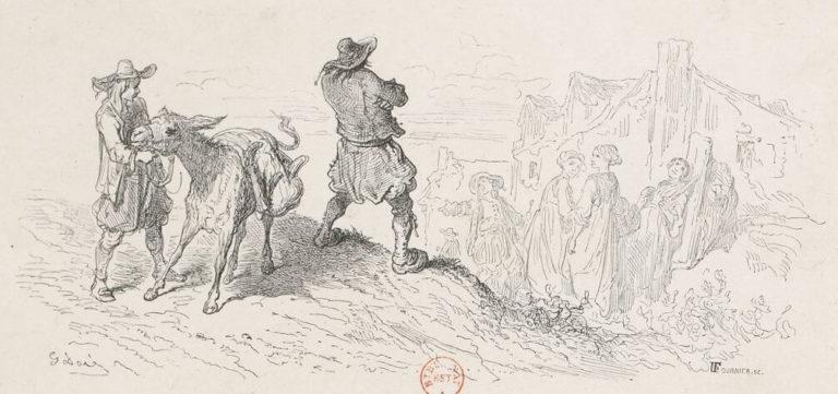 Le Meunier, Son Fils et l'Âne de Jean de La Fontaine dans Les Fables - Illustration de Gustave Doré - 2 - 1876