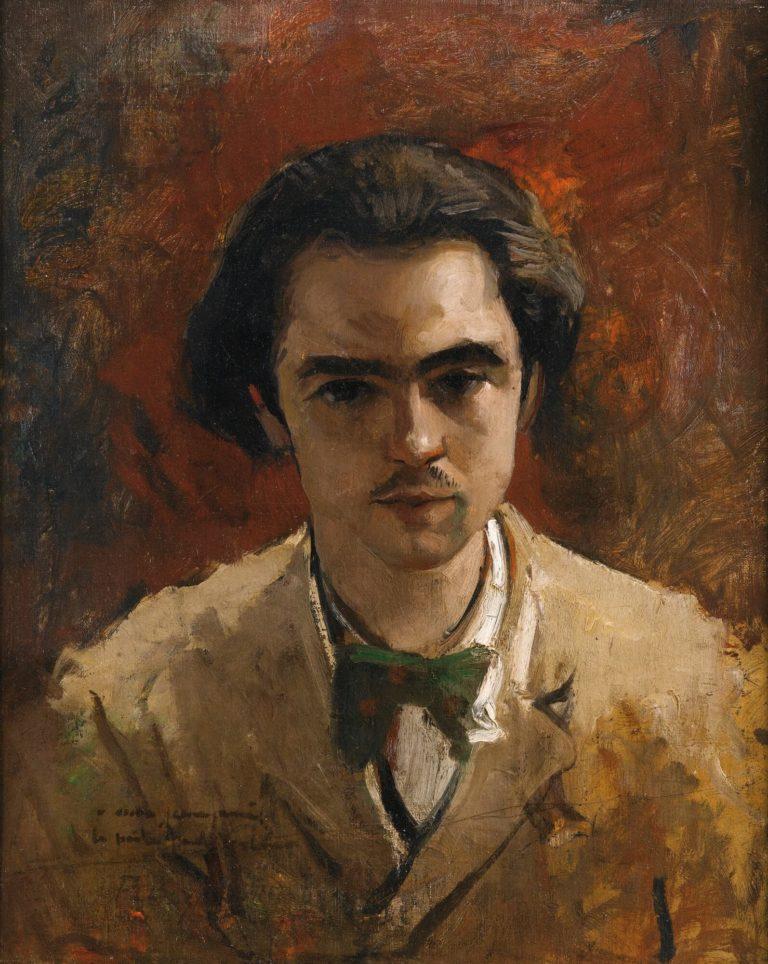 Paul Verlaine - Peinture de Frédéric Bazille - Portrait de Verlaine - 1867