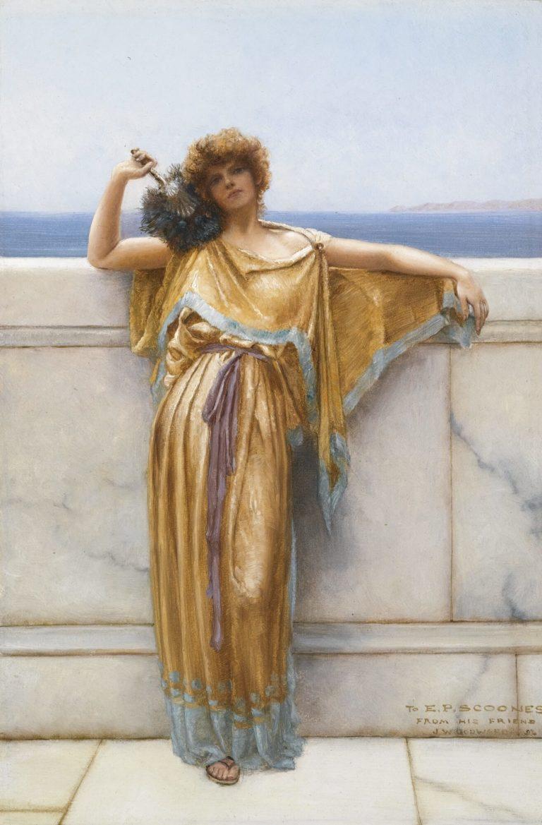 À Clymène de Paul Verlaine dans Fêtes Galantes - Peinture de John William Godward - Clymène - 1892