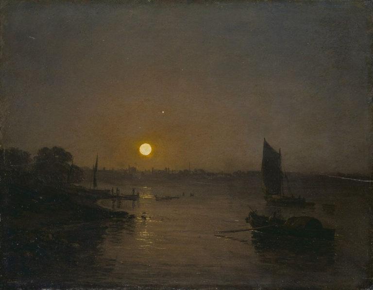 En Bateau de Paul Verlaine dans Fêtes Galantes - Peinture de Joseph Mallord William Turner - Clair de lune, étude à Milbank - 1797