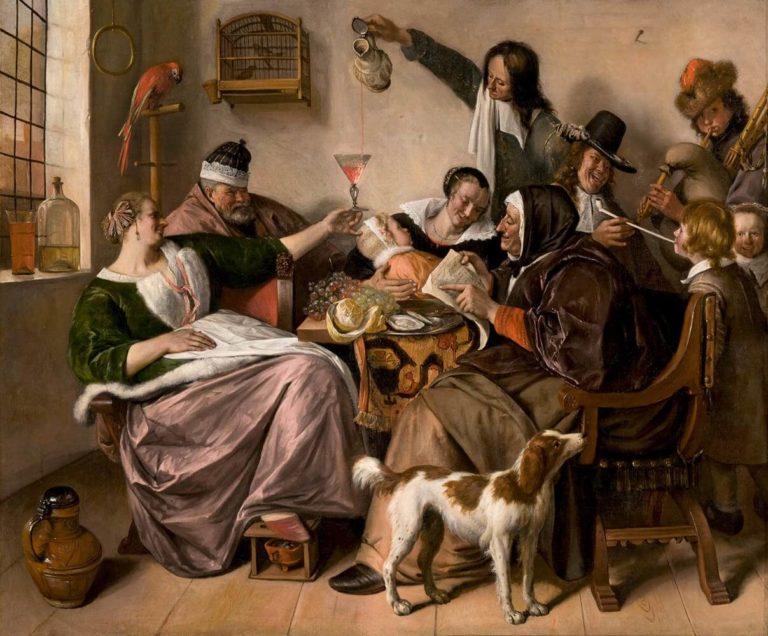 Joyeuse Vie de Victor Hugo dans Les Châtiments - Peinture de Jan Steen - The way you hear it, is the way you sing it - 1665
