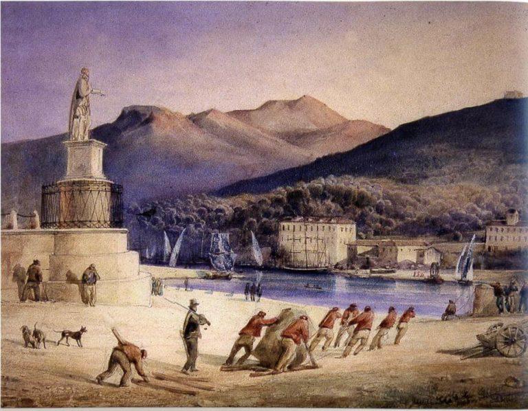 L'Empereur s'Amuse de Victor Hugo dans Les Châtiments - Peinture auteur inconnu - Ancien bagne de Nice sur le port de Nice - Non daté