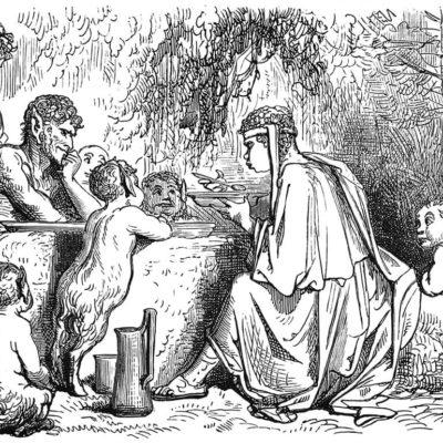 Le Satyre et Le Passant