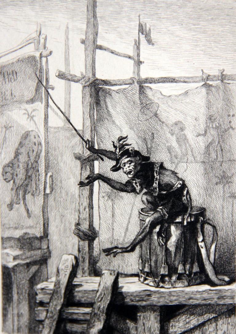 Le Singe et Le Léopard de Jean de La Fontaine dans Les Fables - Illustration parue dans l'édition de D. Jouaust - Librairie des bibliophiles - 1873
