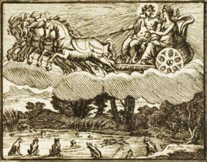 Le Soleil et Les Grenouilles de Jean de La Fontaine dans Les Fables - Illustration de François Chauveau - 1688