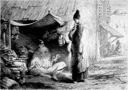 Le Songe d'Un Habitant Du Mogol de Jean de La Fontaine dans Les Fables - Illustration de Foulquier - Non datée