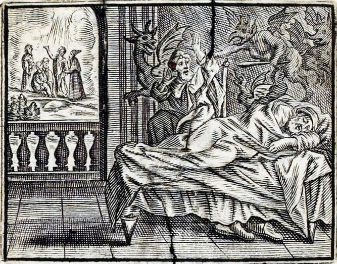 Le Songe d'Un Habitant Du Mogol de Jean de La Fontaine dans Les Fables - Illustration de François Chauveau - 1688