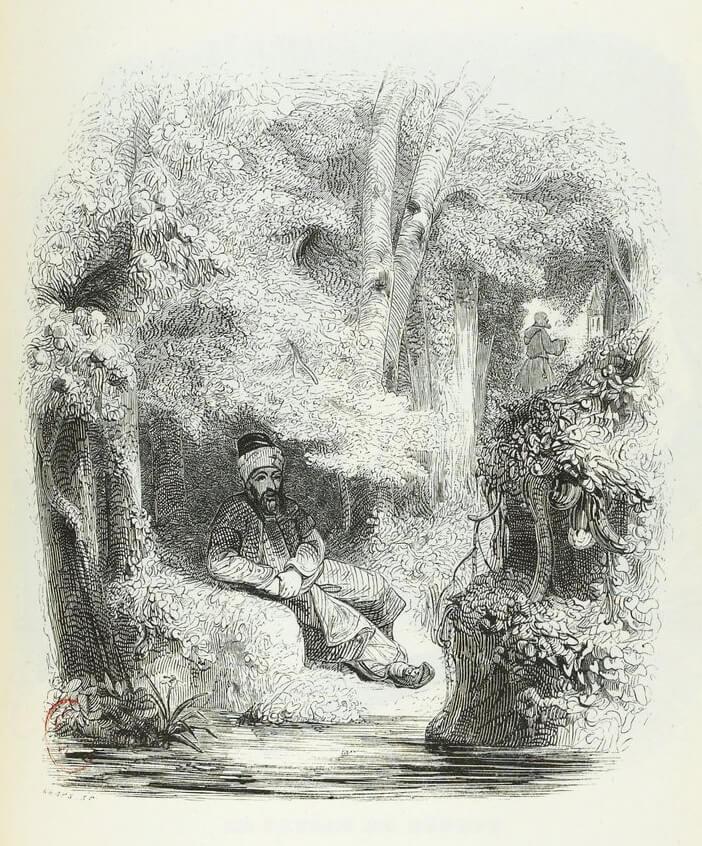 Le Songe d'Un Habitant Du Mogol de Jean de La Fontaine dans Les Fables - Illustration de Grandville - 1840