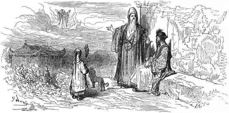 Le Songe d'Un Habitant Du Mogol de Jean de La Fontaine dans Les Fables - Illustration de Gustave Doré - 1876