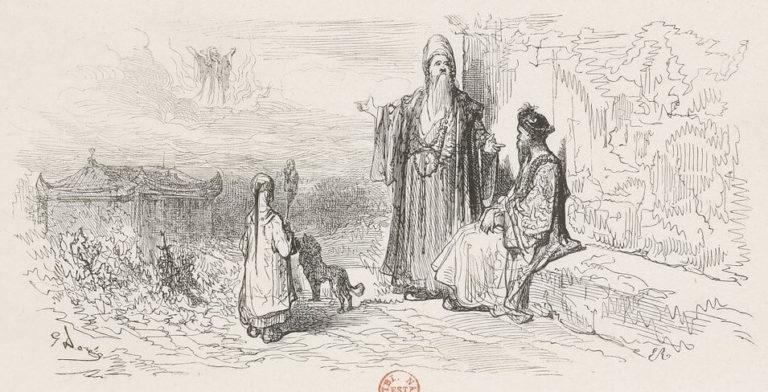 Le Songe d'Un Habitant Du Mogol de Jean de La Fontaine dans Les Fables - Illustration de Gustave Doré - BNF - 1876