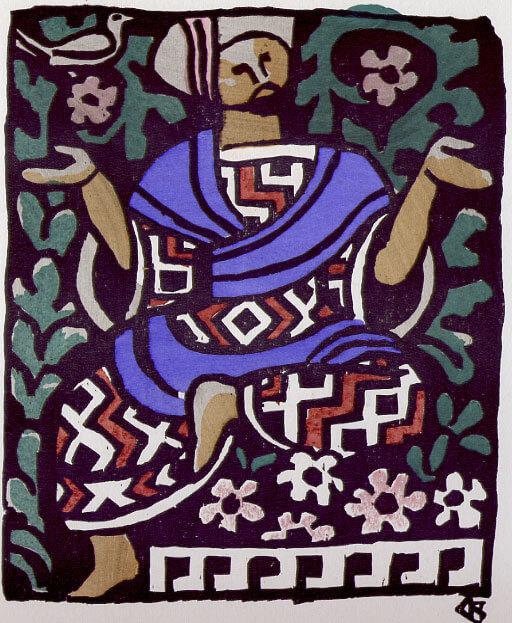Le Songe d'Un Habitant Du Mogol de Jean de La Fontaine dans Les Fables - Illustration de Louis Bouquet - Non datée